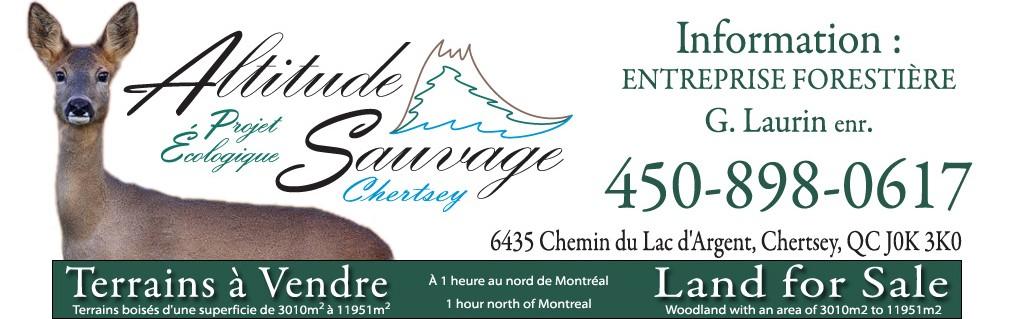 Terrains à vendre / Land for sale | Chertsey – Lanaudière – Québec